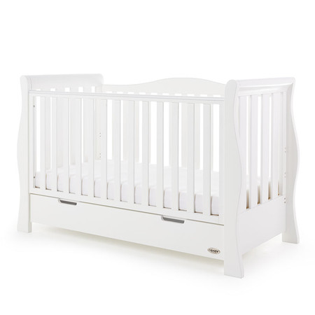 Obaby Stamford Luxe Cot Bed  - White