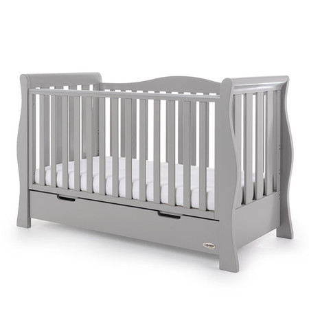 Obaby Stamford Luxe Cot Bed - Warm Grey