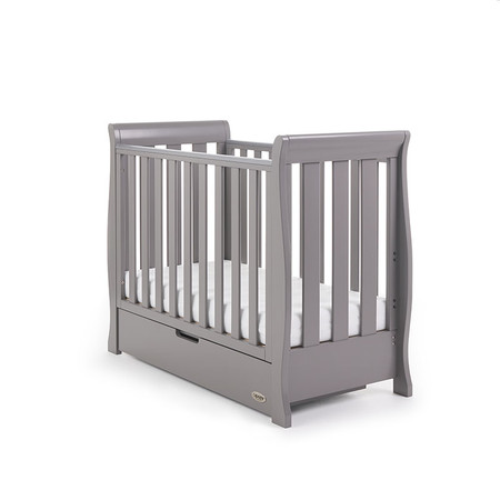 Obaby Stamford Space Saver Cot  - Taupe Grey