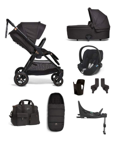 Mamas & Papas Flip XT³ Cloud Z 6 Piece Bundle with Accessories - Black/Copper