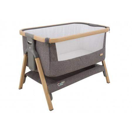 Tutti Bambini CoZee Bedside Crib - Oak and Charcoal
