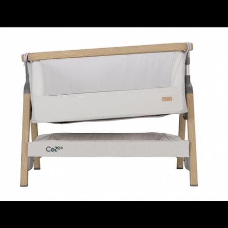 Tutti Bambini CoZee Bedside Crib - Oak & Sterling Silver