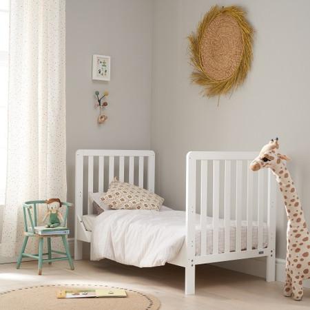 Tutti Bambini White Malmo Cot Bed with Rio Furniture 2 piece Set White/Dove Grey