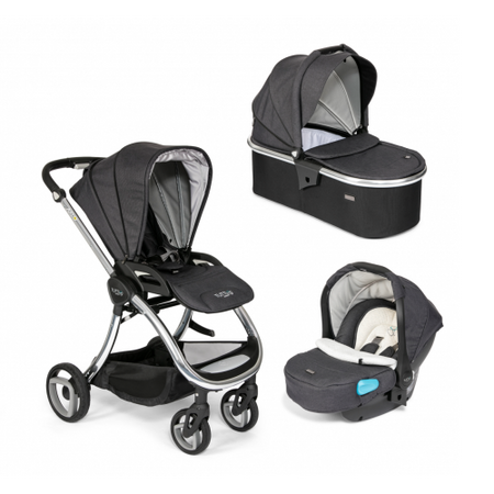 Tutti Bambini Arlo Chrome 3 in 1 Travel System- Liquorice