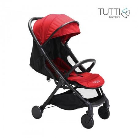 Tutti Bambini Momi Compact Stroller - Black/Poppy