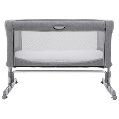 Joie Roomie Bedside Crib – Grey Flannel