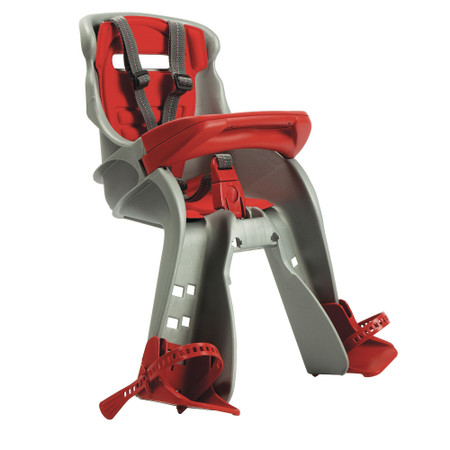 OkBaby Orion Front Mounted Child Bike Seat - Silver / Red