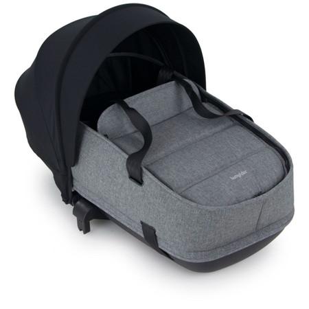 Bumprider Connect 2 Carrycot - Black / Grey Melange