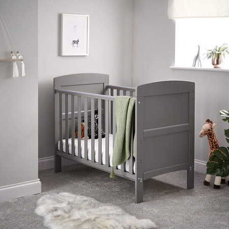 Obaby Grace Mini Cot Bed - Taupe Grey