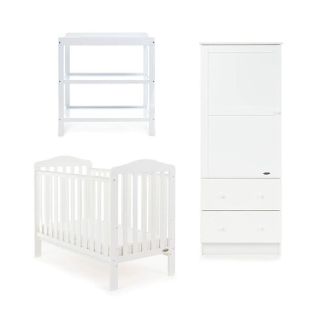 Obaby Ludlow 3 Piece Room Set - White