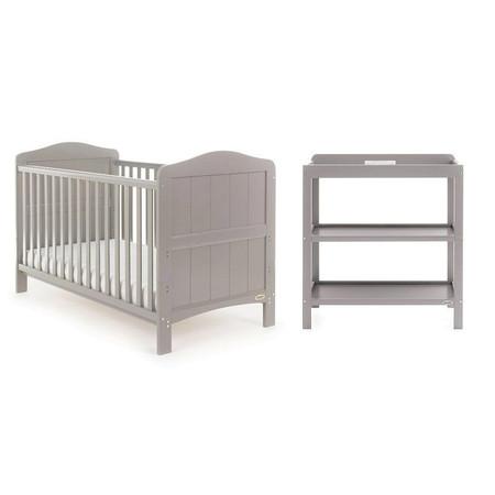 Obaby Whitby 2 Piece Room Set - Warm Grey