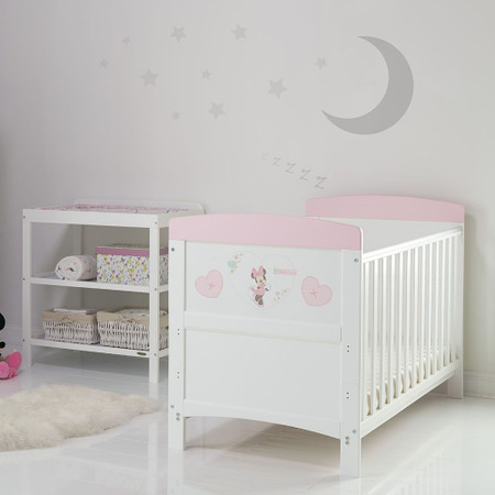 Obaby Minnie Mouse 2 Piece Room Set - Hearts