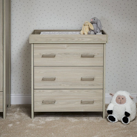 Obaby Nika 3 Piece Room Set - Grey Wash