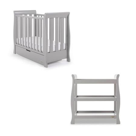 Obaby Stamford Space Saver 2 Piece Room Set - Warm Grey