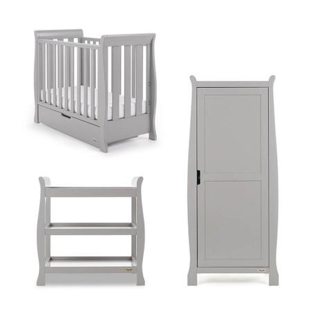 Obaby Stamford Space Saver 3 Piece Room Set - Warm Grey