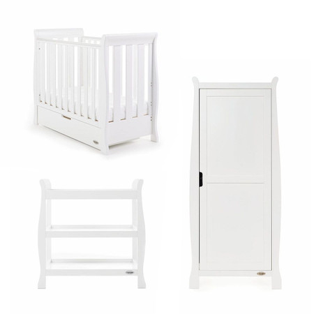 Obaby Stamford Space Saver 3 Piece Room Set - White