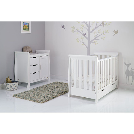 Obaby Stamford Sleigh Mini 2 Piece Room Set - White
