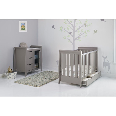 Obaby Stamford Sleigh Mini 2 Piece Room Set - Taupe Grey