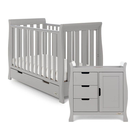 Obaby Stamford Sleigh Mini 2 Piece Room Set - Warm Grey
