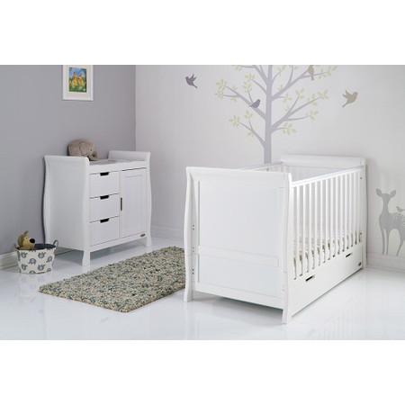Obaby Stamford Classic Sleigh 2 Piece Room Set - White