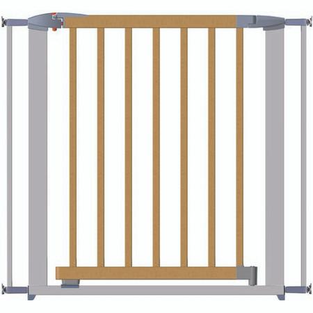 Clippasafe Swing Shut Extendable Gate - Silver Metal + Wood