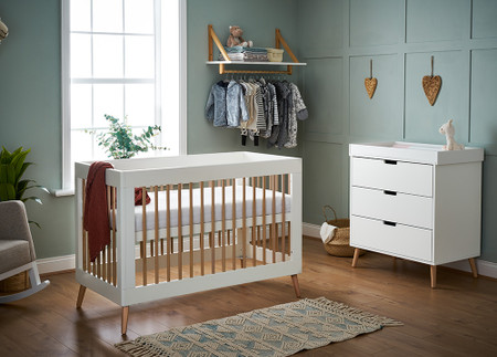 Obaby Maya Mini 2 Piece Room Set - White with Natural
