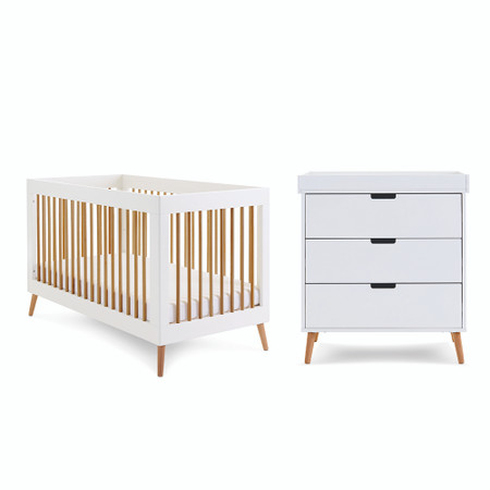 Obaby Maya 2 Piece Room Set - White with Natural