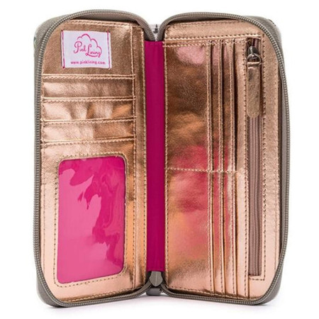 Pink Lining Wallet - Dalmatian Fever