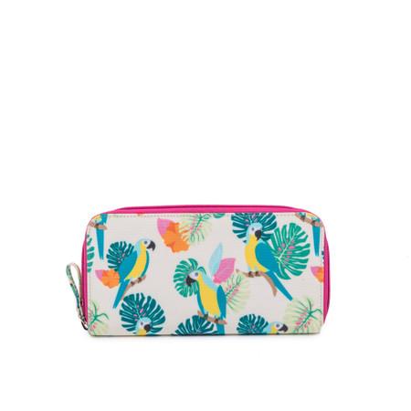Pink Lining Wallet - Parrot Cream