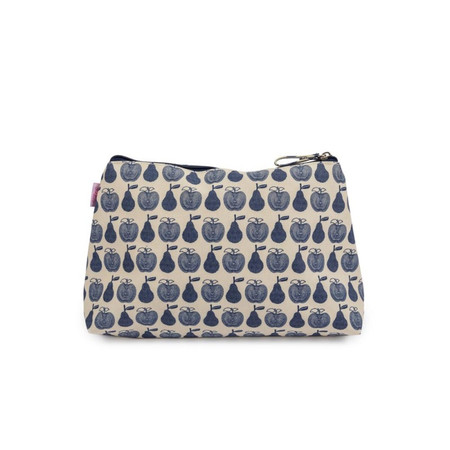 Pink Lining Wash Bag - Apples and Pears Blue