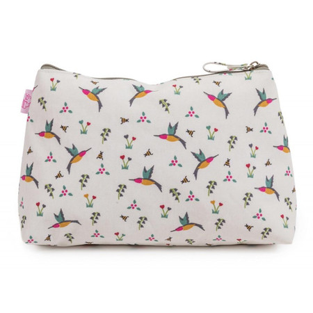 Pink Lining Wash Bag - Hummingbird