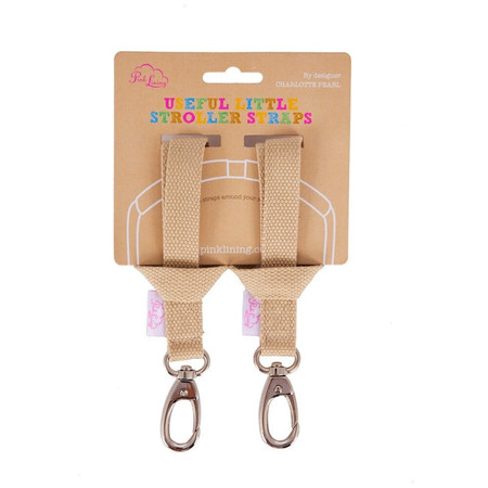 Pink Lining Stroller Strap - Oatmeal