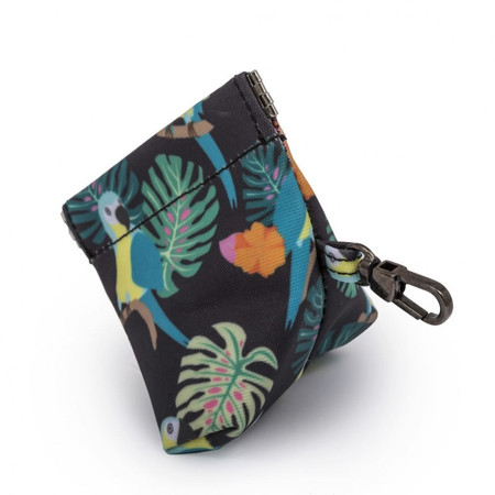 Pink Lining Pacifier Pouch - Parrot Black