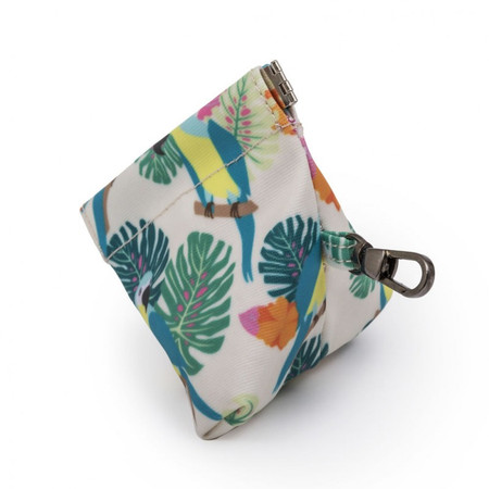 Pink Lining Pacifier Pouch - Parrot Cream