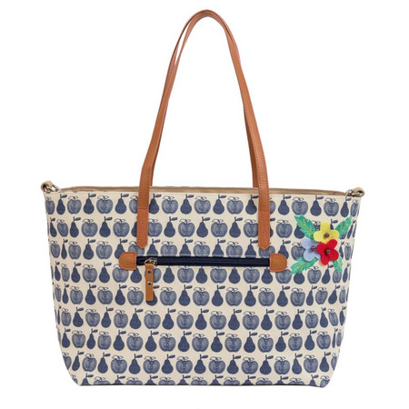 Pink Lining Nottinghill Tote - Apples & Pears Blue