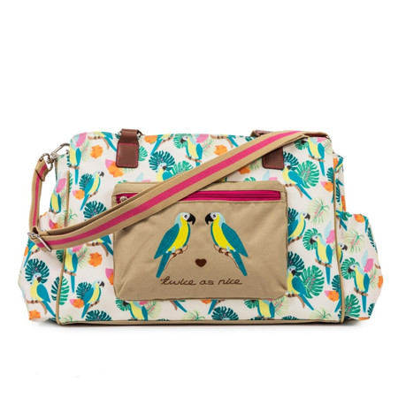 Pink Lining Twice as Nice Twin Bag - Parrot Cream