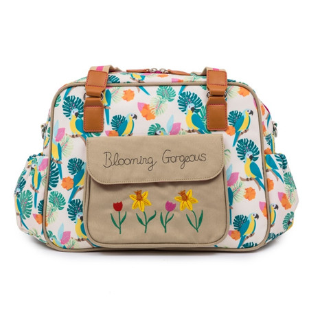 Pink Lining Blooming Gorgeous Changing Bag - Parrot Cream