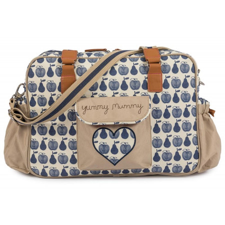 Pink Lining Yummy Mummy Changing Bag - Apples and Pears Blue