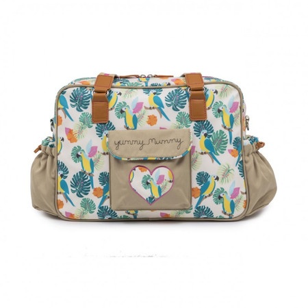Pink Lining Yummy Mummy Changing Bag - Parrot Cream