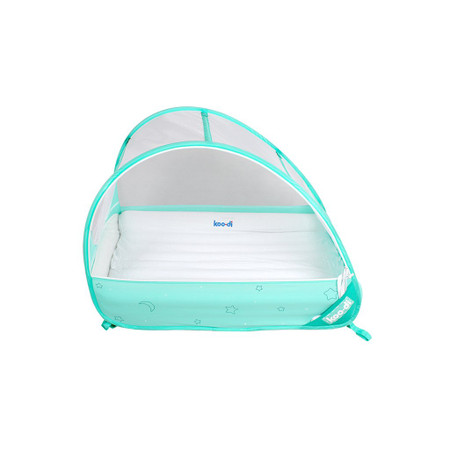Koo-di Pop-Up Bubble Cot Inflatable Mattress & Fitted Sheet Set