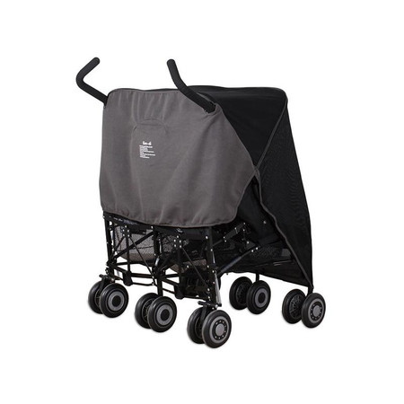 Koo-di Pack-It Sun & Sleep Double Stroller Cover - Grey