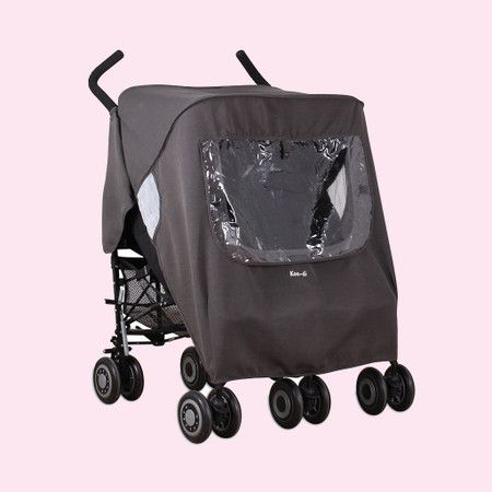 Koo-di Pack-It Keep Us Dry Double Stroller Rain Cover - Grey