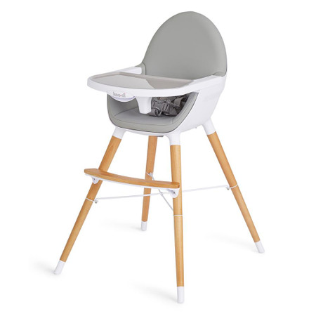Koo-di Duo Wooden Highchair - Grey