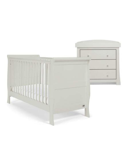 Mamas and Papas Mia Sleigh Cot Bed Set - Cool Grey