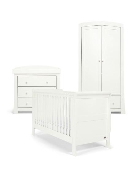 Mamas & Papas Mia Sleigh Cot Bed Range - White