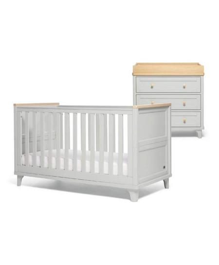 Mamas & Papas Trista 2 Piece Cot bed Set - Grey/Oak