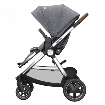 Maxi Cosi Adorra Luxe, Oria Carrycot, Pebble Pro Luxe & Familyfix2 Package - Grey Twillic