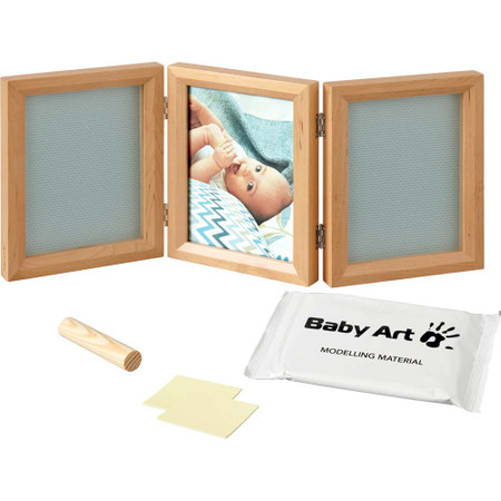 Baby Art My Baby Touch Double Print Frame  - Stormy