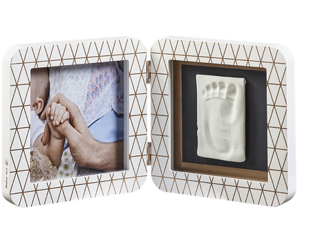 Baby Art My Baby Touch Rounded Single Print Frame - Copper Edition White