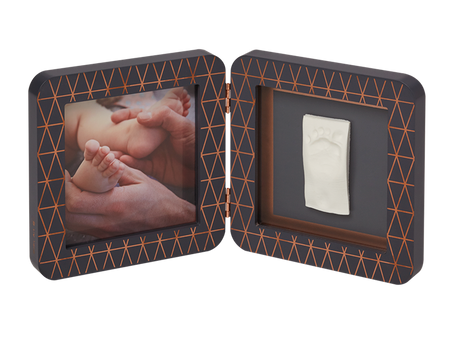 Baby Art My Baby Touch Rounded Single Print Frame - Copper Edition Dark Grey